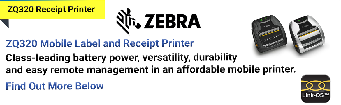 Show products in category Zebra ZQ320 Receipt Printer