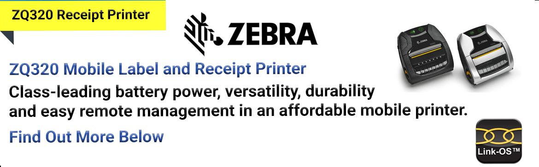 Show products in category Zebra ZQ320 Receipt Printer